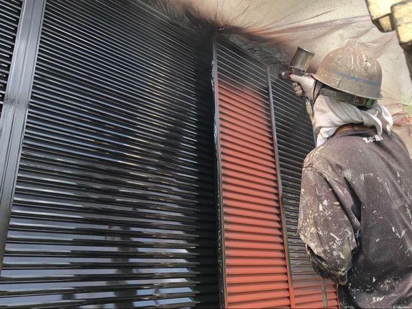 熊本県上益城郡御船町・外壁塗装・雨戸上吹き