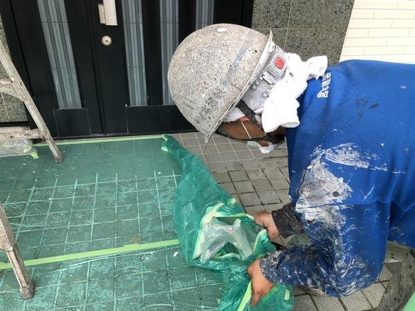 熊本県上益城郡御船町・外壁塗装・養生撤去