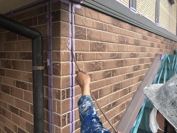 熊本市南区今町・外壁塗装・シール撤去作業