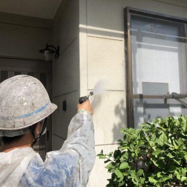 熊本県東区・外壁塗装(高圧水洗浄)