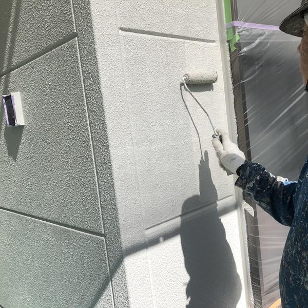 熊本市東区佐土原・外壁塗装工事(上塗り)