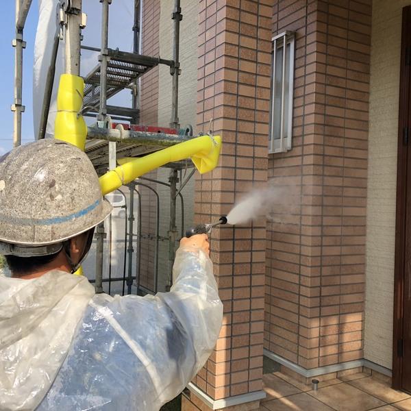 熊本市南区・外壁塗装工事(高圧水洗浄)