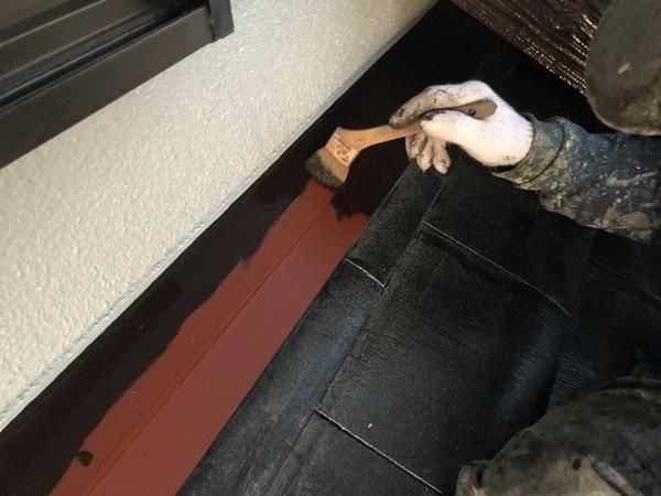 熊本市東区・屋根塗装工事(板金上塗り)