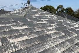 熊本市中央区国府にて屋根塗装工事‐宮本建装の施工前画像