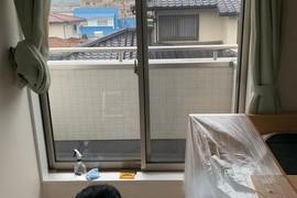 熊本市北区楡木 ウィンドウフイルム 飛散防止&紫外線カット&プライバシーの施工前画像
