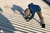 熊本県八代市スレート屋根ボルトキャップ撤去後新規取付工事(安全対策含む)