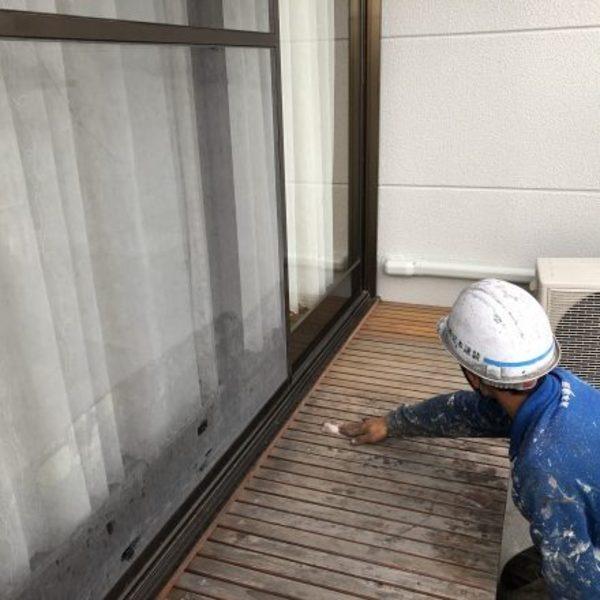 熊本市東区・外壁塗装(ウッドデッキ塗装)