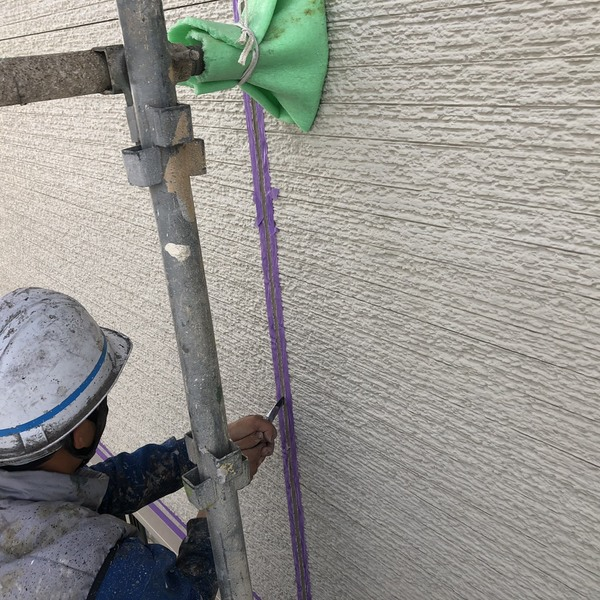 熊本市南区・外壁塗装工事(シール撤去)