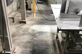 熊本県八代市工場内部 塗床工事 熊本地震修繕工事(床割れ)の施工前画像