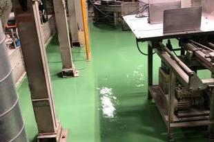 熊本県八代市工場内部 塗床工事 熊本地震修繕工事(床割れ)の施工後画像