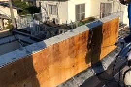熊本県合志市須屋 住宅 外壁内除カビ工事 下地から綺麗にしました。の施工前画像