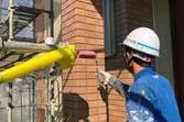 熊本市南区田井島 住宅 外壁フッ素クリヤーにて仕上げました。