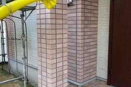 熊本市南区田井島 住宅 外壁フッ素クリヤーにて仕上げました。の施工前画像