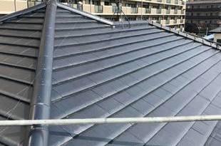 熊本市東区佐土原 屋根塗装 銀黒ルーフシリコン仕上げ 手塗りで仕上げました。の施工後画像