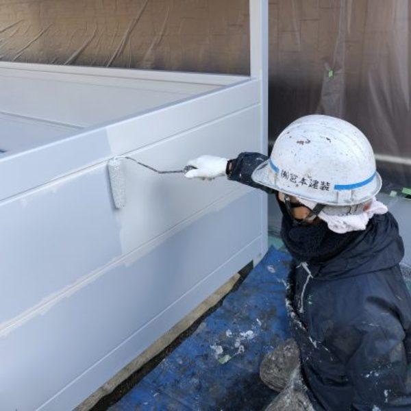 熊本市北区・外壁塗装(駐輪場塗装完了)
