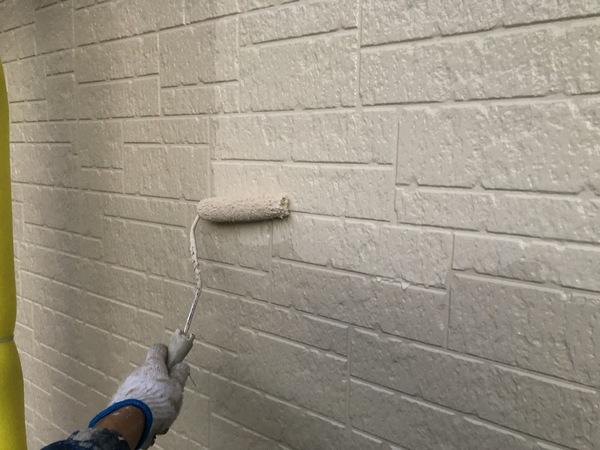 熊本市中央区・外壁塗装工事(外壁上塗り)