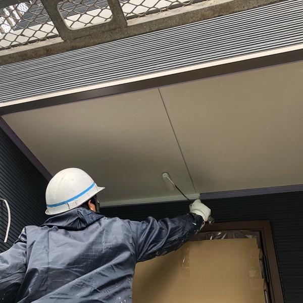 熊本市東区・軒天井塗装工事