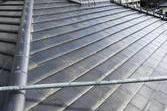 熊本市東区佐土原 屋根塗装 銀黒ルーフシリコン仕上げ 手塗りで仕上げました。