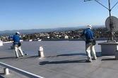 熊本県熊本市東区長嶺南 マンション屋上シート防水補修・保護塗装工事、宮本建装