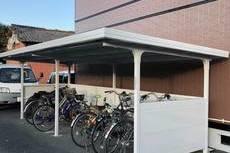 熊本市北区高平のアパート駐輪場塗装工事 宮本建装