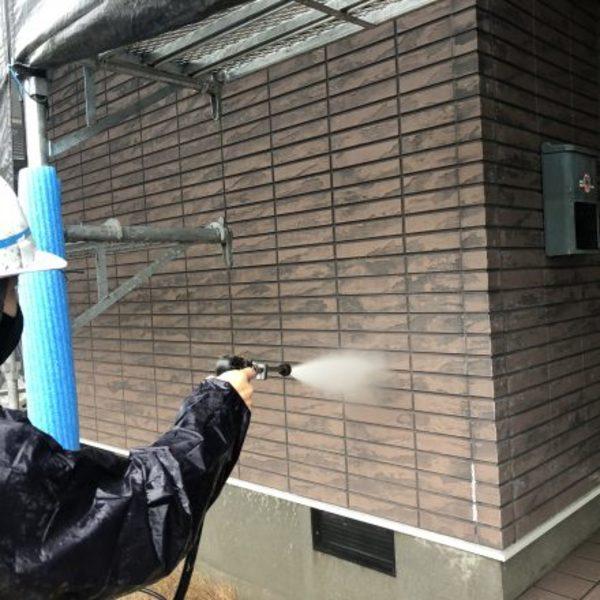 熊本県宇城市・外壁塗装(塗装前高圧洗浄)