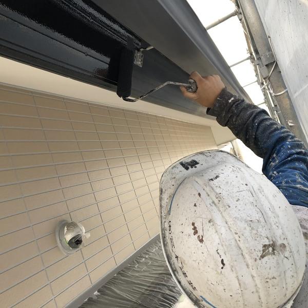 熊本県菊池郡・外壁塗装工事(破風板上塗り)
