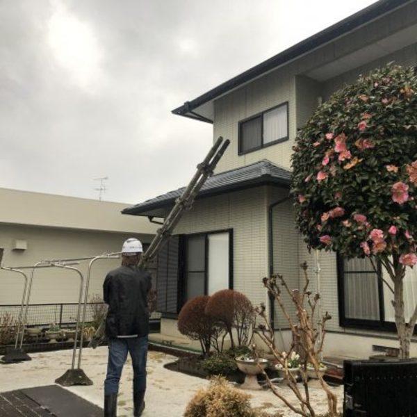 熊本県菊池郡・外壁塗装(塗装前足場組)