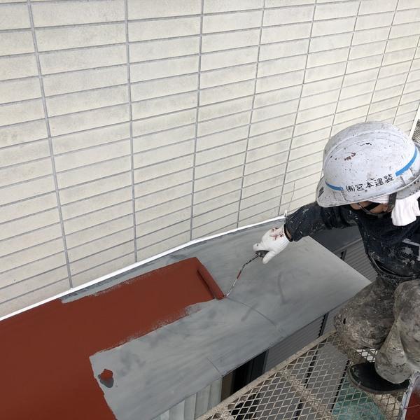 熊本県菊池郡・外壁塗装(板金部錆止め)