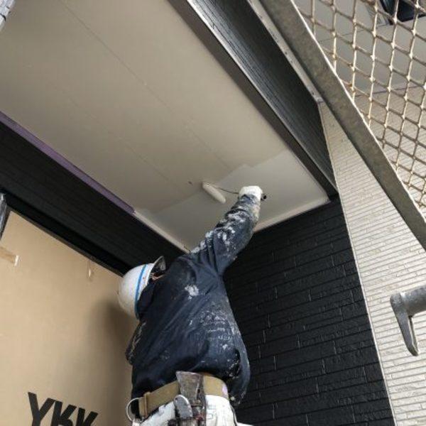 熊本市南区・外壁塗装(軒天井塗装)