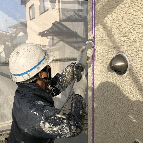 熊本県合志市・外壁塗装(シーリング工事)