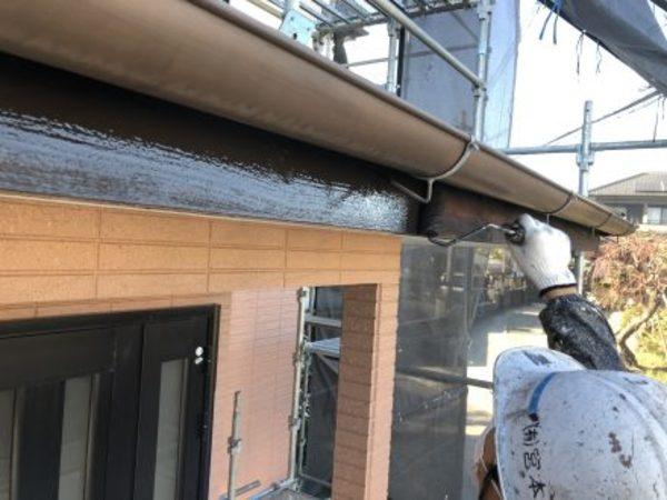 熊本県宇城市・外壁塗装(破風上塗り)