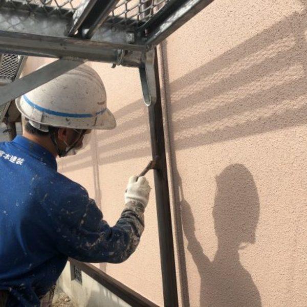 熊本県荒尾市・外壁塗装(樋塗装、一液ウレタン使用)