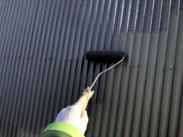 熊本県宇土市・屋根塗装工事(上塗り一回目)