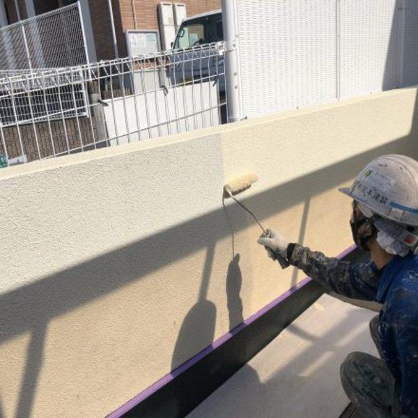 熊本県合志市・外壁塗装(塀塗装工事完了)