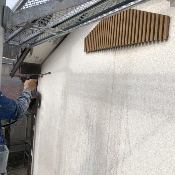 熊本県荒尾市・外壁塗装(高圧洗浄)