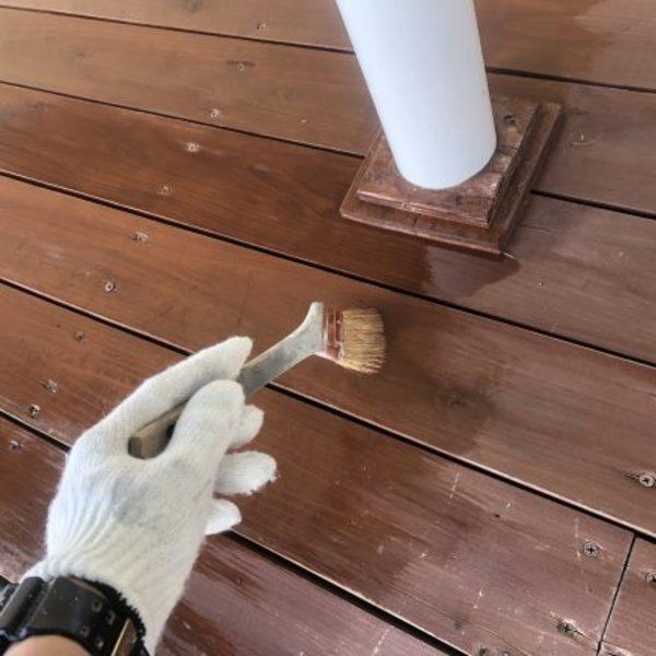 熊本市北区四方寄・木部塗装(木部塗装完了)