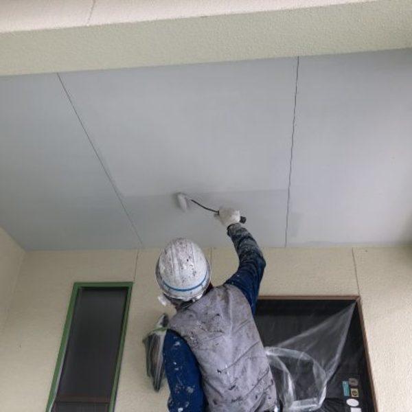 熊本県合志市・外壁塗装(軒天井塗装完了)