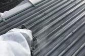 熊本県宇土市 大型スレート屋根遮熱塗装工事 吹いて吹いて吹きました(吹付塗装)