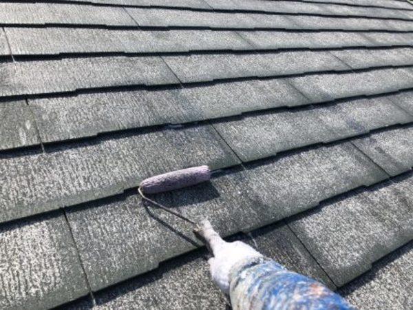 熊本市大江・屋根塗装(屋根用カチオン系シーラー)
