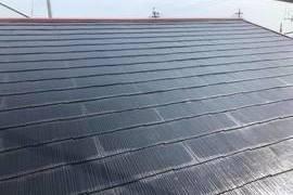 熊本市北区梶尾町の屋根雨漏り補修後ヤネフレッシュ塗装(屋根塗装)工事の施工前画像