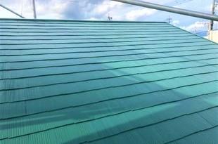 熊本市北区梶尾町の屋根雨漏り補修後ヤネフレッシュ塗装(屋根塗装)工事の施工後画像
