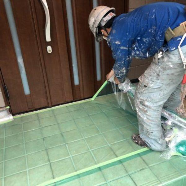 熊本県合志市須屋・外壁塗装(養生撤去)