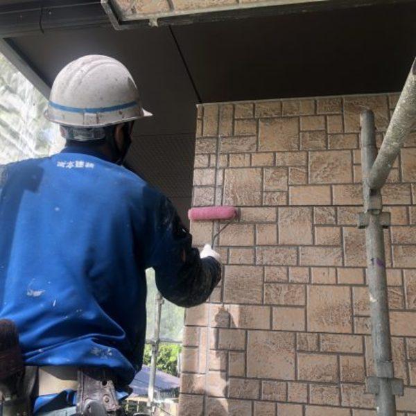熊本県球磨郡あさぎり町・外壁塗装(2液弱溶剤形フッ素樹脂クリヤー)