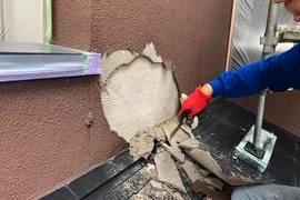 熊本県熊本市北区梶尾町の熊本地震被災外壁改修工事 続けて外壁塗装の施工前画像