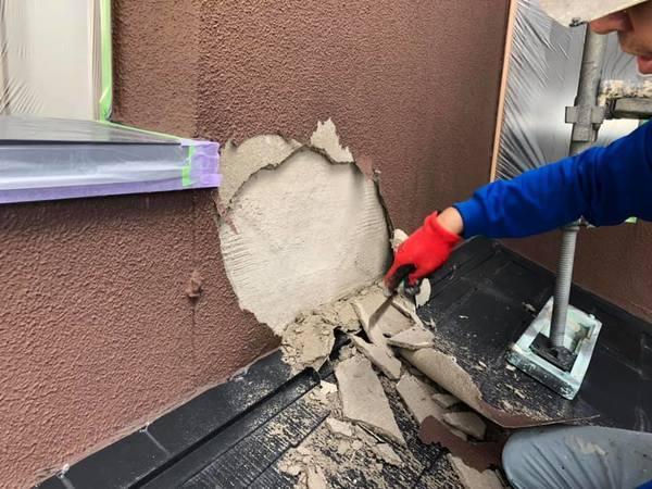 熊本県熊本市北区梶尾町の熊本地震被災外壁改修工事 続けて外壁塗装