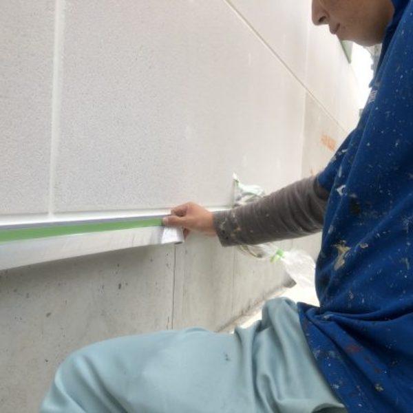 熊本県宇土市・外壁塗装(養生作業)