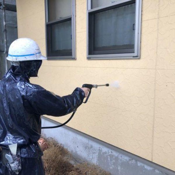 熊本市東区小山・外壁塗装(高圧水洗浄)