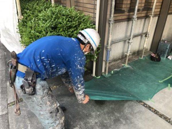 熊本市大江・外壁塗装(養生撤去)
