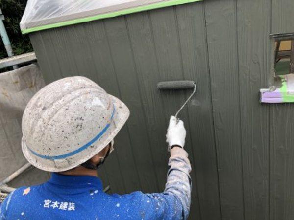 熊本市東区小山・外壁塗装(弱溶剤2液型シリコン塗料)