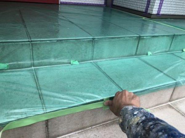 熊本県上益城郡・外壁塗装(土間養生)
